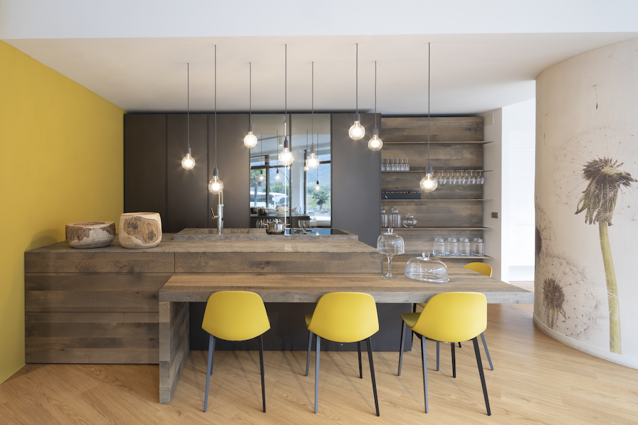 Showroom Cucina Gialla Mobili Matteotti Dro Trento